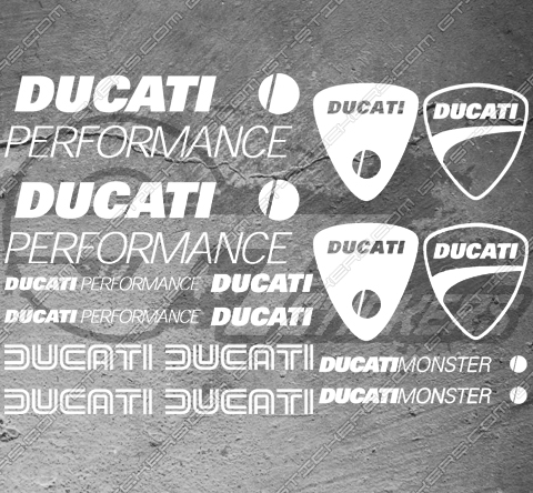 16 Stickers DUCATI Performance Monster