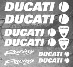 10 Stickers DUCATI Racing