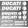 10 Stickers DUCATI Racing