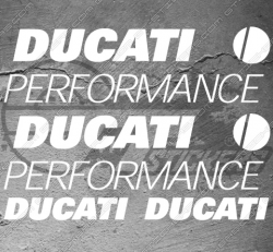 4 Stickers DUCATI Performance