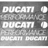 4 Stickers DUCATI Performance