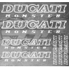 7 Stickers DUCATI Monster