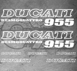 7 Stickers DUCATI 955 Desmoquattro