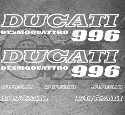 7 Stickers DUCATI 996 Desmoquattro
