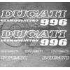 7 Stickers DUCATI 996 Desmoquattro