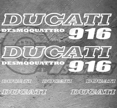 7 Stickers DUCATI 916 Desmoquattro