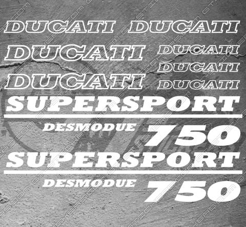 9 Stickers DUCATI SUPERSPORT 750 DESMODUE