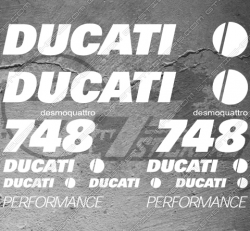 11 Stickers DUCATI Performance 748 Desmoquattro