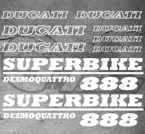 11 Stickers DUCATI Superbike Desmoquattro 888