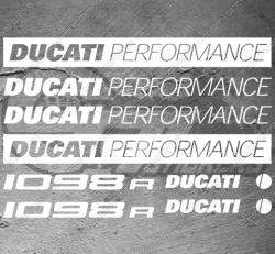 8 Stickers Ducati 1098r Performance