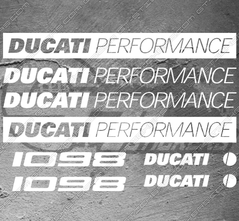 8 Stickers Ducati 1098 Performance