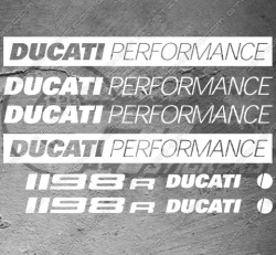 8 Stickers Ducati 1198r Performance