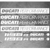 8 Stickers Ducati 1198r Performance