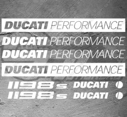 8 Stickers Ducati 1198s Performance