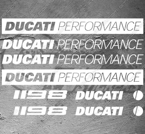 8 Stickers Ducati 1198 Performance