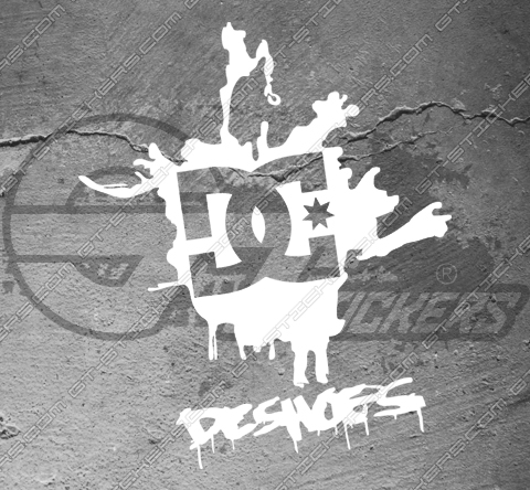 Stickers DC Shoes Logo 3