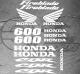 Planche de 15 Stickers HONDA CBR 600 FIREBLADE