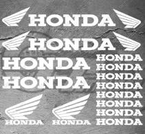Planche de 16 Stickers HONDA AVEC LOGO AILES