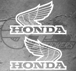 2 stickers logo honda vintage 12 cm