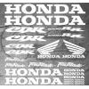 Planche XXL - 25 Stickers HONDA CBR 1000RR Fireblade