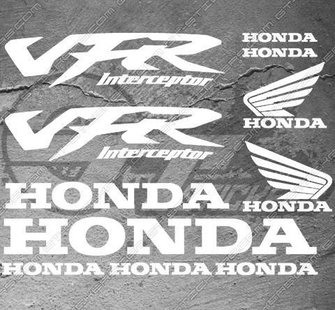 Planche XXL - 11 Stickers Honda VFR Interceptor