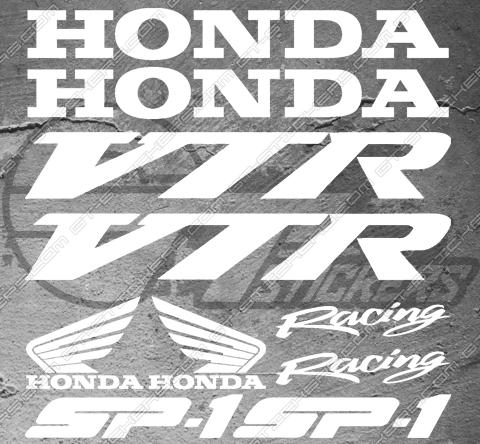Planche XXL - 10 Stickers Honda VTR SP-1 Racing