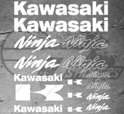Planche de 16 Stickers Kawasaki NINJA