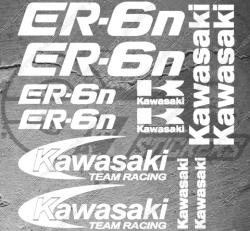 Planche XXL - 12 Stickers Kawasaki ER-6N Team Racing