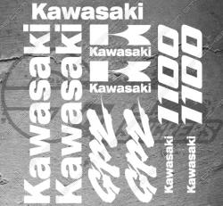 Planche XXL - 13 Stickers Kawasaki GPZ 1100