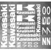 Planche XXL - 13 Stickers Kawasaki Z750