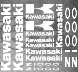 Planche XXL - 13 Stickers Kawasaki Z1000