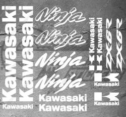 Planche XXL - 15 Stickers Kawasaki ZX-6R Ninja
