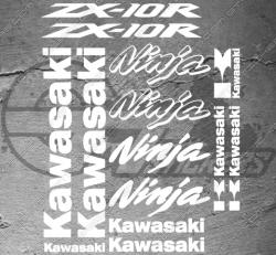 Planche XXL - 15 Stickers Kawasaki ZX-10R Ninja