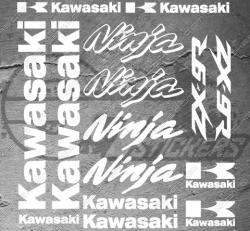 Planche XXL - 15 Stickers Kawasaki ZX-9R Ninja