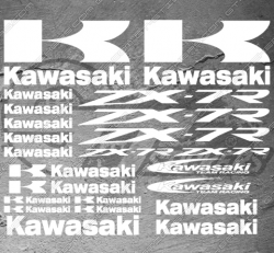 Planche XXL - 23 Stickers Kawasaki ZX-7R Team Racing
