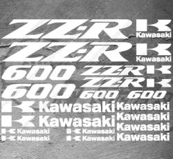 Planche XXL - 22 Stickers Kawasaki ZZ-R 600
