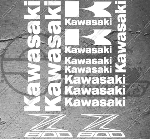 Planche XXL - 12 Stickers Kawasaki Z800