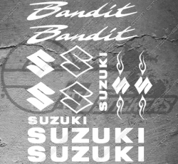 Planche de 12 Stickers SUZUKI BANDIT tribal