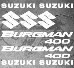 Planche de 11 Stickers SUZUKI BURGMAN 400