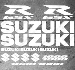 Planche XXL de 15 Stickers SUZUKI GSX-R 1000