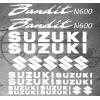 Planche de 19 Stickers SUZUKI BANDIT N600
