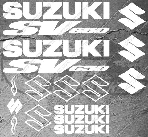 Planche de 15 Stickers Suzuki SV650 tribal