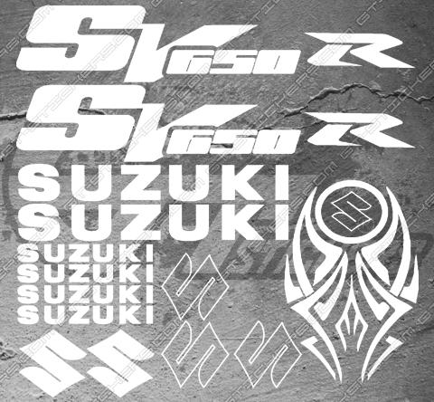 Planche de 14 Stickers SUZUKI SV650R + Tribal reservoir