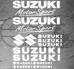 Planche de 13 Stickers SUZUKI MOTORSPORT