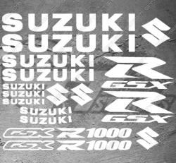 Planche de 17 Stickers Suzuki GSX-R 1000