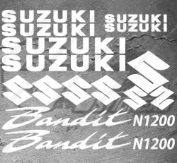 Planche de 15 Stickers SUZUKI Bandit N1200