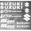 Planche de 11 Stickers Suzuki DL650 VSTROM