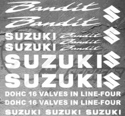 Planche XXL - 18 Stickers Suzuki Bandit