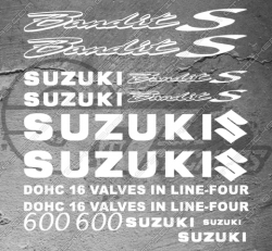 Planche XXL - 17 Stickers Suzuki Bandit 600 S