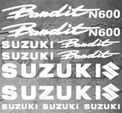 Planche XXL - 13 Stickers Suzuki Bandit N600